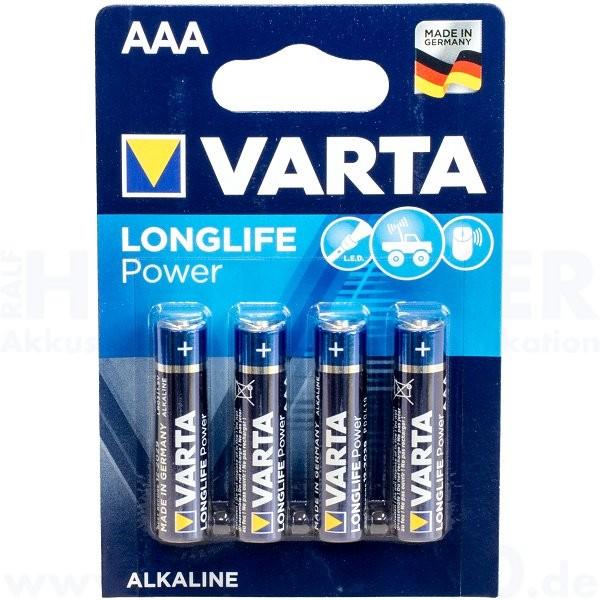 Varta LONGLIFE Power Micro AAA - 1.5V, 4er Pack
