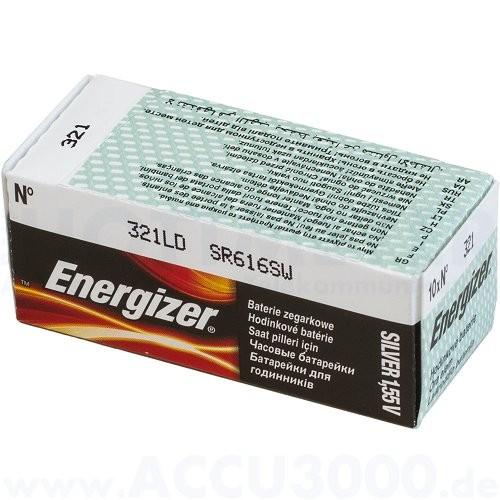 Energizer Silber 321 LD - SR-65 - SR-616SW - 1.55V, 10er Pack