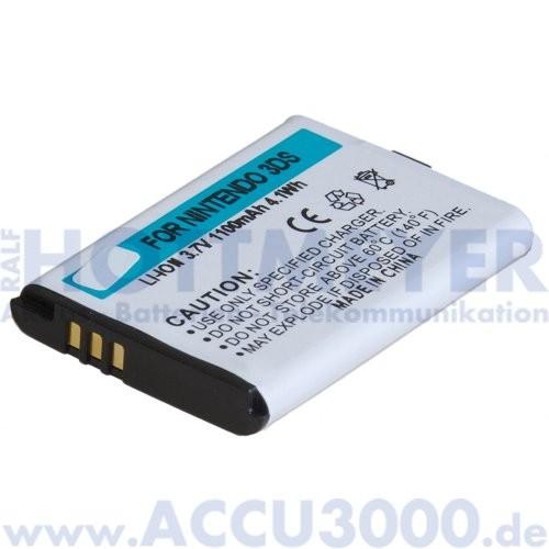 Akku f. Nintendo 3DS - 3.7V, 1100mAh, Li-Ion