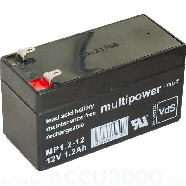 12V, 1.2Ah (C20), Multipower MP1.2-12