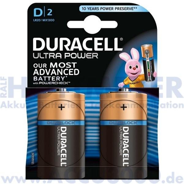 Duracell MN1300 Ultra Power, Mono D - 1.5V, 2er Blister