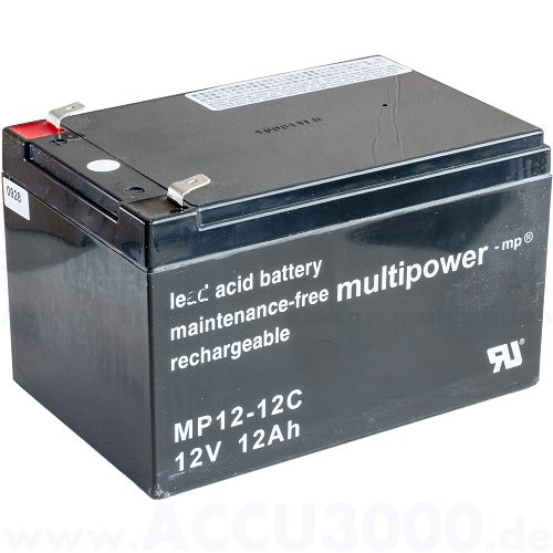 12V, 12.0Ah (C20), Multipower MP12-12C, Zyklenfest