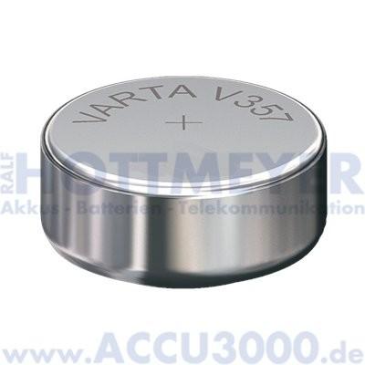 Varta Silber 357 (V357) - SR-44 - SR1154W, 1.55V - Uhrenbatterie, High Drain