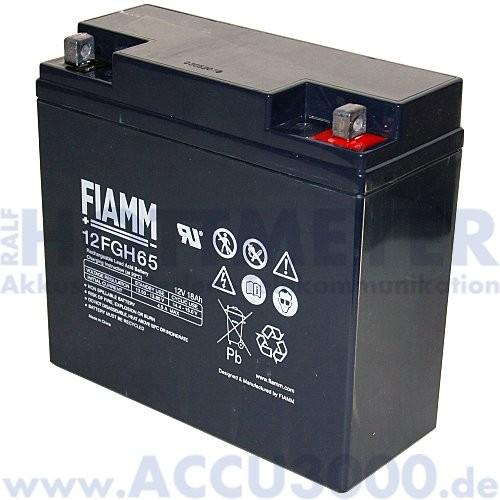 12V, 18.0Ah (C20), Fiamm 12FGH65 (FGH21803), Hochstromfest