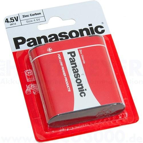 Panasonic Special-Power 3R12R Flachbatterie - 4.5V, 1800mAh, 1er Pack Batterie