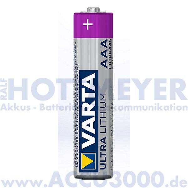 Varta Lithium AAA Micro - 1.5V, 1100mAh - 2er Pack