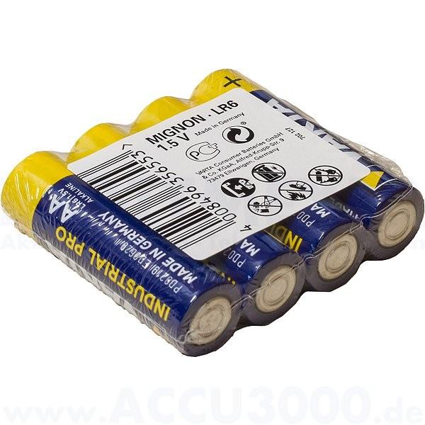 Varta INDUSTRIAL PRO Mignon AA, LR6, Alkaline - 1.5V, 400 Stück