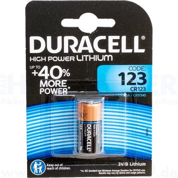 Duracell Lithium Ultra Photo 123 - CR-123 - 3.0V