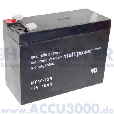 12V, 10.0Ah (C20), Multipower MP10-12S