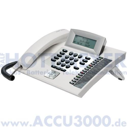 Auerswald COMfortel 1600 - lichtgrau - Systemtelefon mit beleuchtetem Touchdisplay