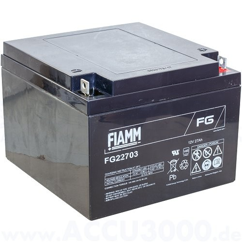 12V, 27.0Ah (C20), Fiamm FG22703