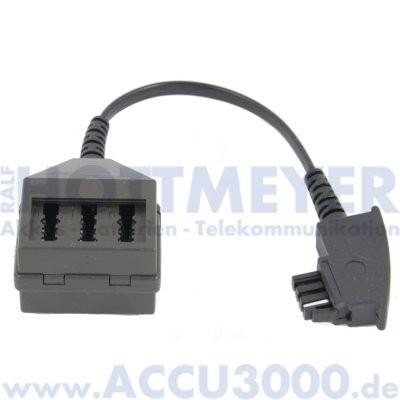 Adapter TAE-F -> TAE-NFN - mit 0.1m Kabel