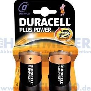 Duracell MN1300 plus Power, Mono D - 1.5V, 2er Blister
