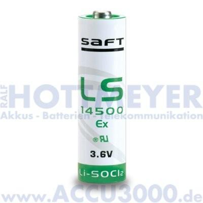 Saft Lithium LS14500Ex, Mignon AA - 3.6V, 2600mAh, 14.5 x 50.5mm