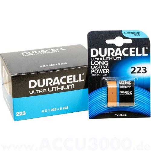 Duracell Lithium Ultra Photo 223 - CR-P2 - 6.0V, 6 Stück - 35 x 36 x 19.5mm