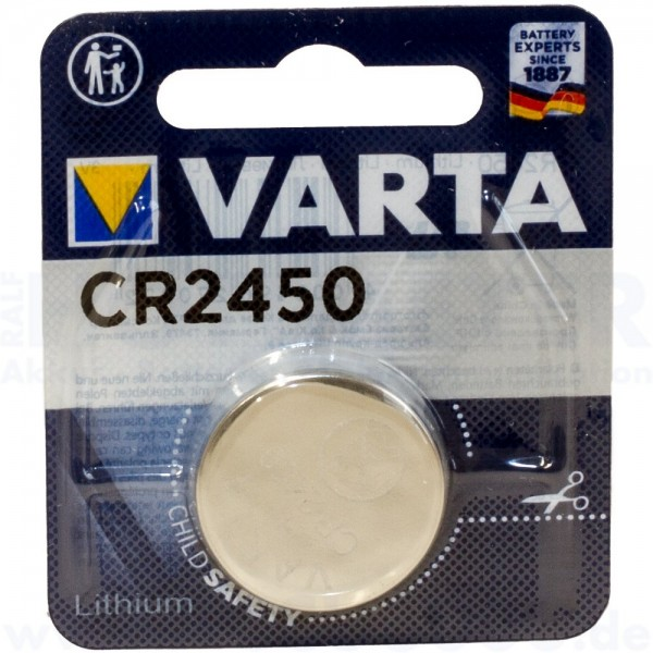Varta Lithium CR-2450 - 3V Knopfzelle