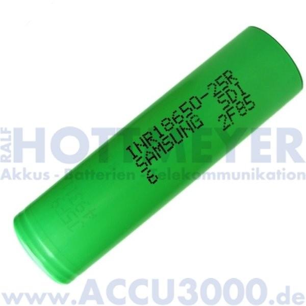 Samsung Lithium-Ionen Akku INR18650-25R, 4/3A - Rohzelle