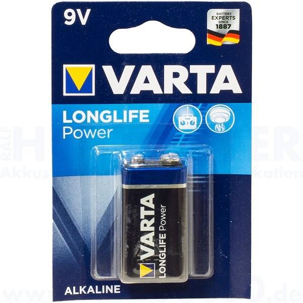 Varta LONGLIFE Power E-Block, 6LP3146 - 9V, 1er Pack