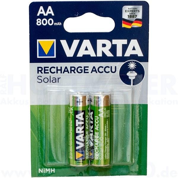 Varta Solar Accu Mignon AA, 56736 - 1.2V, 800mAh, NiMh - 2er Blister