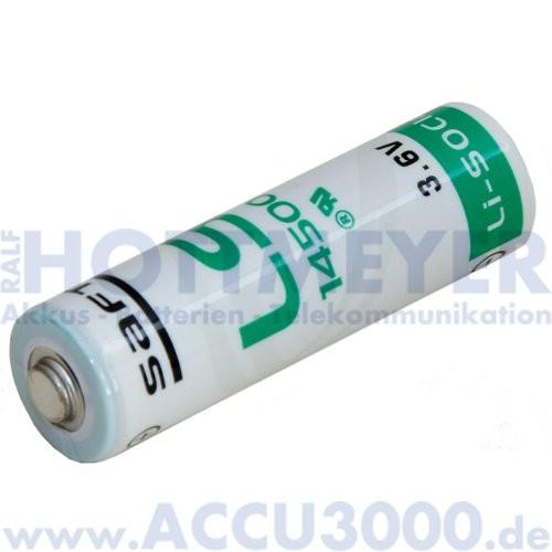Saft Lithium LS14500, Mignon AA - 3.6V, 2450mAh, 14.5 x 50.5mm