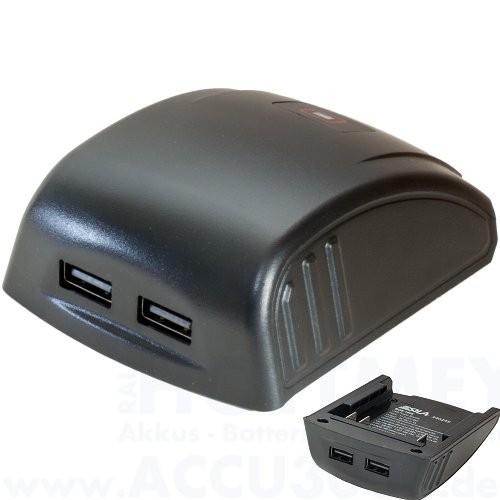 USB Powertool Adapter für Bosch 14.4V / 18V Ausgangsleistung max. 2.1A