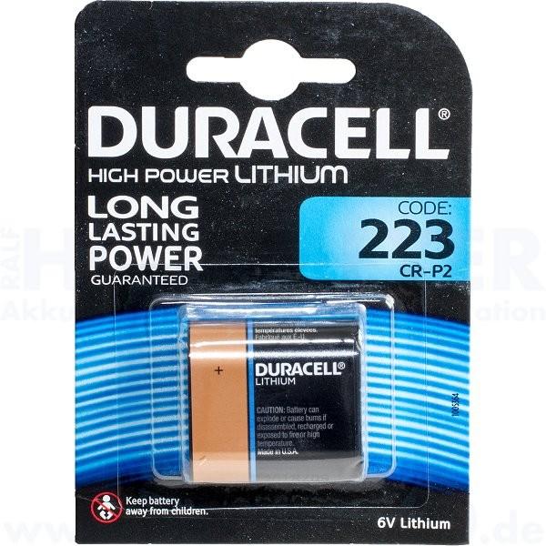 Duracell Lithium Ultra Photo 223 - CR-P2 - 6.0V - 35 x 36 x 19.5mm