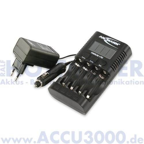 Ansmann Powerline 4.2 Pro - für 1-4 Mignon AA/Micro AAA, inkl. USB Ladebuchse
