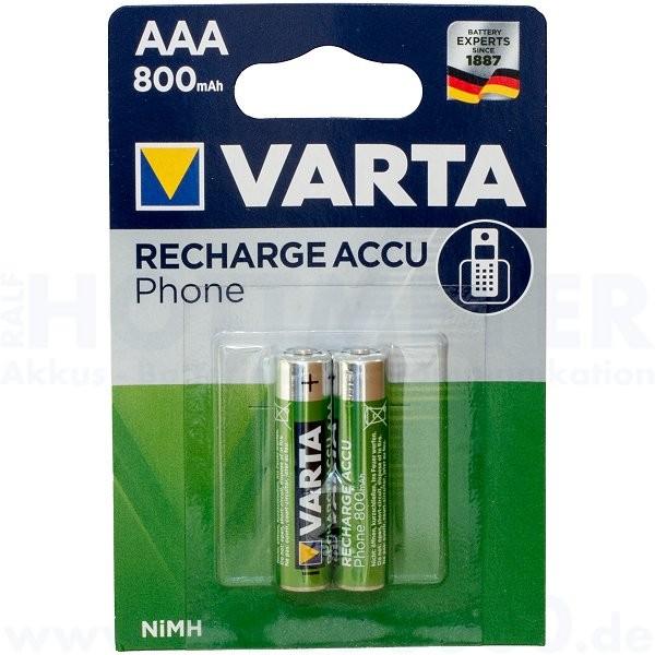 Varta RECHARGE ACCU Phone AAA 800mAh - 2er Blister