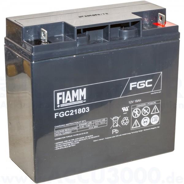 12V, 18.0Ah (C20), Fiamm FGC21803, Zyklenfest