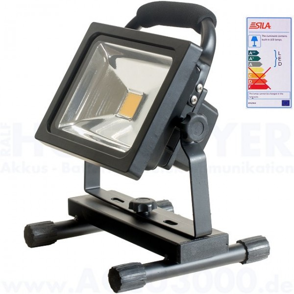 Sila F1020range LED 20W Akku-Arbeitsscheinwerfer **Black Edition**