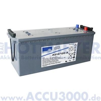 12V, 120.0Ah (C20), Exide Dryfit A512/120A