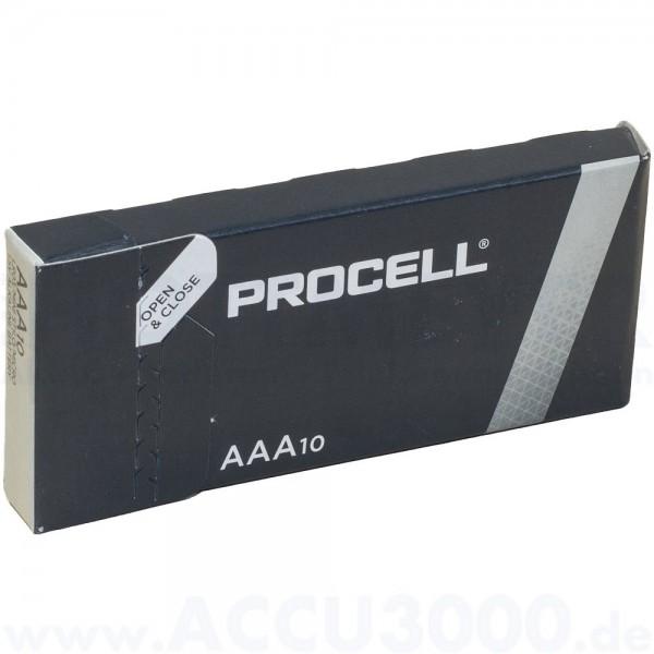 Duracell PC2400 Procell Micro LR03 - 1.5V, Tray, 10 Stück