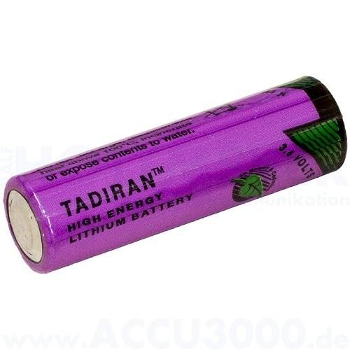 Tadiran SL-760/S, 3.6V, 2200mAh - 14.7 x 50.5mm, AA