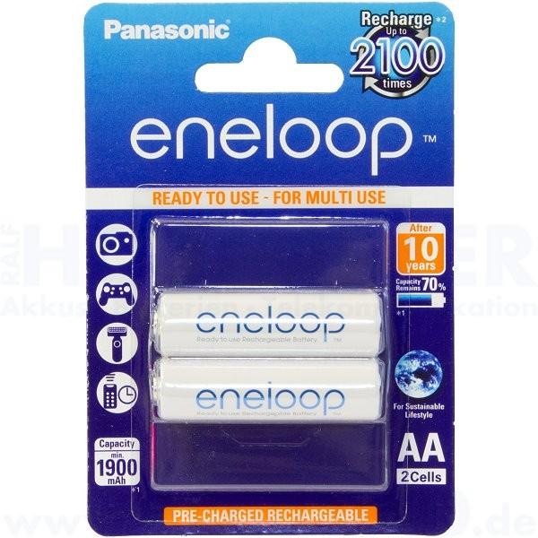 Panasonic eneloop Mignon AA - 1.2V, 1900mAh - 2 Stück