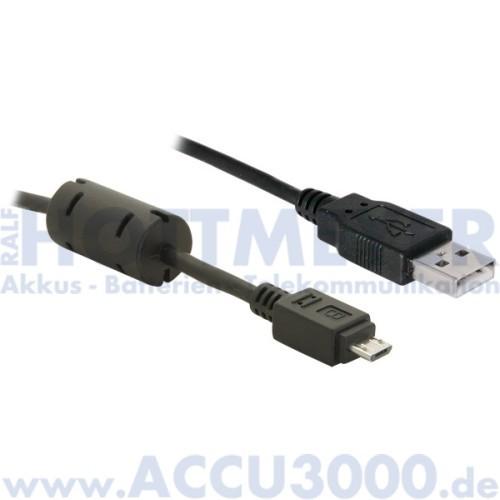 DeLock USB 2.0 Typ A - Micro USB Typ B - Länge 2m mit Ferritkern