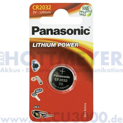 Panasonic Lithium Power CR2032 - 3V, 210mAh, 20 x 3.2mm