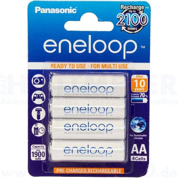 Panasonic eneloop Mignon AA - 1.2V, 1900mAh - 4 Stück