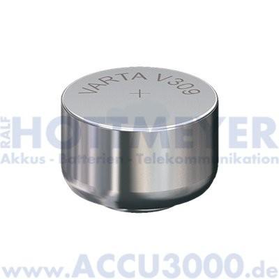 Varta Silber 309 (V309) - SR-48 - SR754SW, 1.55V - Uhrenbatterie