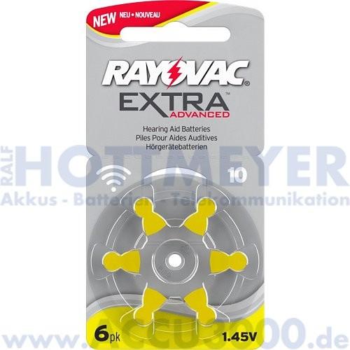Rayovac 10 - Extra Advanced - 6 Stück - Hörgerätebatterie