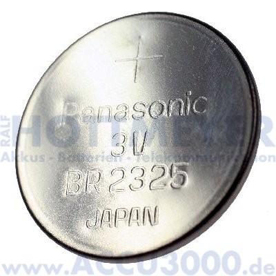 Knopfzelle Lithium CR2325 - 3V, 190mAh, 23 x 2.5mm