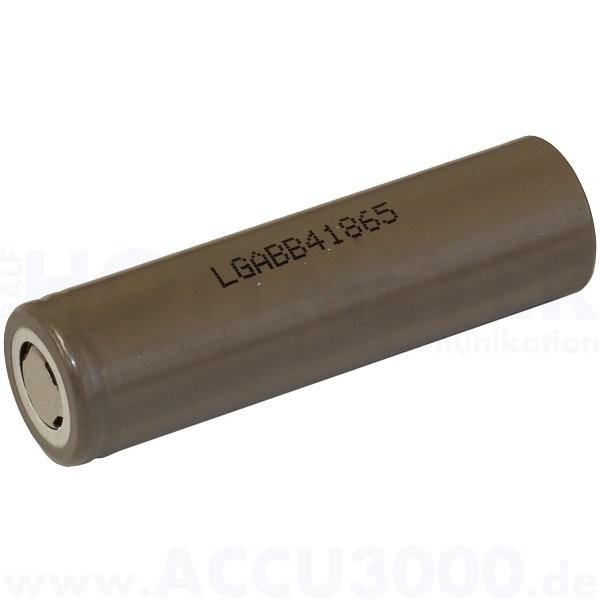 LG Lithium-Ionen Akku LGABB41865 (ICR18650 B4), 4/3A - Rohzelle