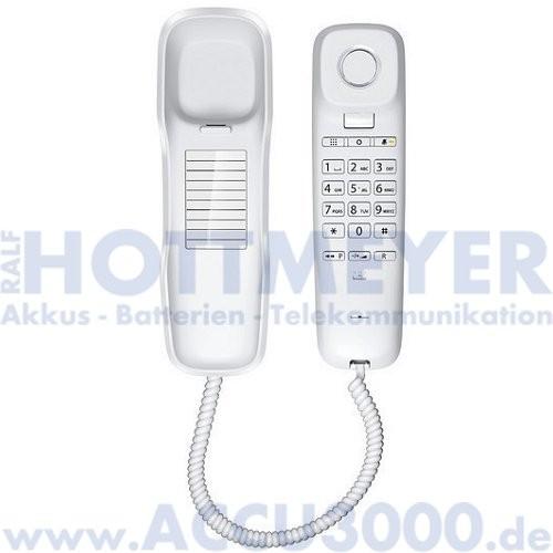 Gigaset DA210 - Platzsparendes Kompakttelefon - weiß