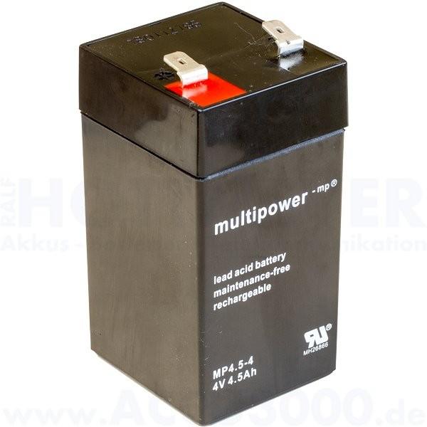 4V, 4.5Ah (C20), Multipower MP4.5-4