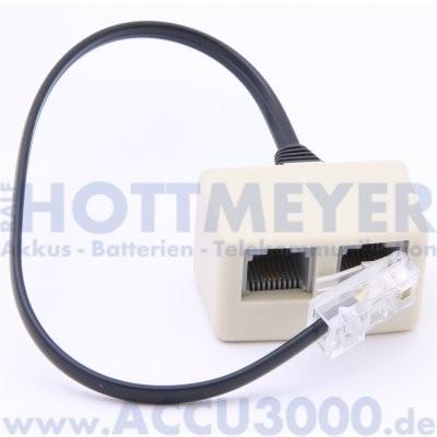 ISDN Adapter Western 8(4) (RJ45) 2fach - mit ca. 10cm Anschlussleitung