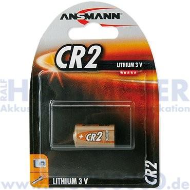 Ansmann Lithium CR-2, CR17355, CR15H270 - 3V, 750mAh, 15.6 x 27mm