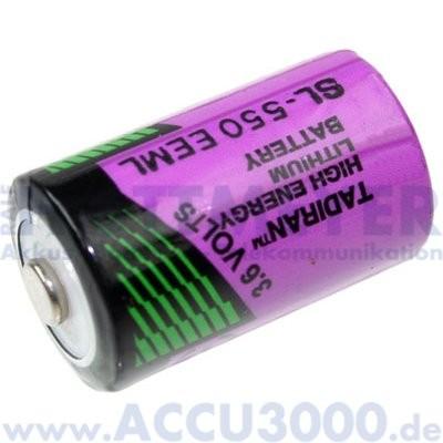 Tadiran SL-550/S, 3.6V, 800mAh - 14.7 x 25.2mm, 1/2 AA