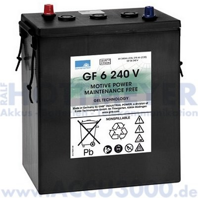 6V, 240.0Ah (C5), Exide Dryfit Traction GF06240V