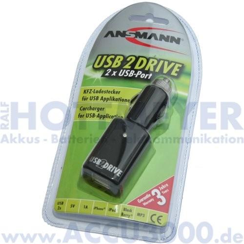 Ansmann USB2drive - KFZ Ladenetzteil für USB Anwendungen