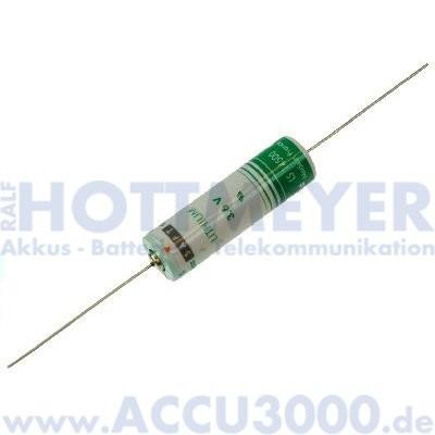 Saft Lithium LS14500CNA, Mignon AA - 3.6V, 2450mAh - mit Drahtanschluss