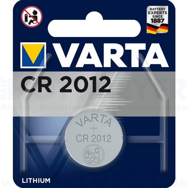 Varta Lithium CR-2012 - 3V Knopfzelle